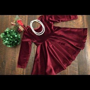 NWT Boutique Velvety Twirl Dress